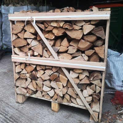 1.17 Cubic Meter Stacked Kiln Dried Oak Ash And Hornbeam